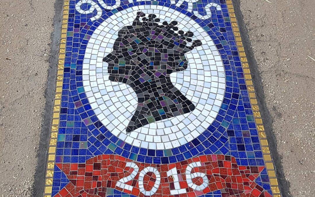 Queen's 90th Birthday mosaic, Syston District Council